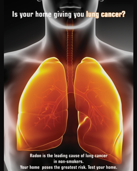 Radon is one of the leading causes of lung cancer